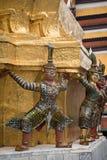 Guardas del demonio en el palacio magnífico, Bangkok Fotografía de archivo