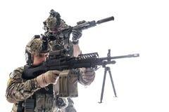 Guardas florestais do exército em uniformes do campo imagens de stock