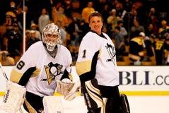 Guardas-redes dos Pittsburgh Penguins Imagens de Stock