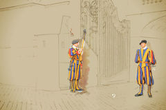 Guardas suíças Imagens de Stock Royalty Free