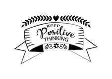 Guarde el pensamiento del positivo Fotografía de archivo libre de regalías