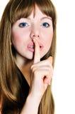 Guarde el silencio, por favor Fotografía de archivo libre de regalías