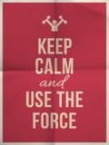 Guarde el uso tranquilo que la cita de la fuerza encendido dobló en la textura de papel cuatro Imagenes de archivo