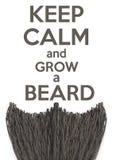 Guarde la calma y crezca una barba Imagen de archivo libre de regalías