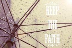 Guarde la cita de la fe Fotografía de archivo