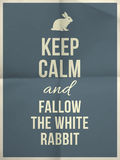 Guarde la cita tranquila del conejo Imagen de archivo libre de regalías