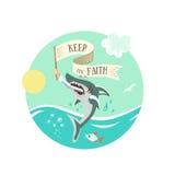 Guarde la fe 2 ilustración del vector