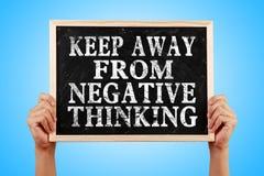 Guarde lejos del pensamiento negativo Imagen de archivo libre de regalías