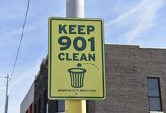 Guarde 901 Memphis City Beautiful limpio fotos de archivo
