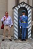 Guarde Praga foto de archivo libre de regalías