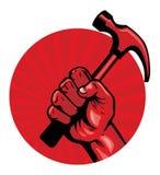 Guarde um cartaz do martelo Foto de Stock Royalty Free