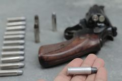 Guarde uma bala e atire no borrão Imagens de Stock