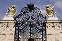 Guarded Entrance to Belvedere Palace Royalty Free Stock Image