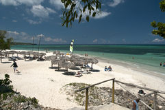 Guardelavaca海滩古巴 免版税库存图片