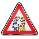 Guardería, cuarto de niños y niños ilustración del vector