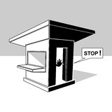 Guardhouse clip art vector illustration Stock Photography