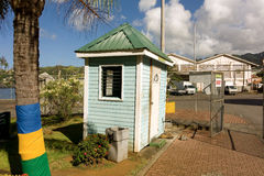 The guardhouse at the grenadines wharf Stock Photos