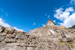 Guardhouse in Machu Picchu, Peru Stock Photo