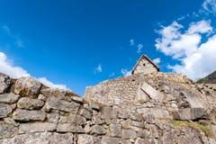 Guardhouse in Machu Picchu, Peru. Guardhouse in Machu Picchu, Andes, Sacred Valley, Peru Stock Photo