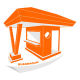 Guardhouse modern perspective view vector illustration Royalty Free Stock Photography