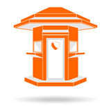 Guardhouse modern style front view vector illustration Stock Image