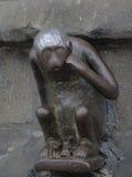 Guardhouse monkey Royalty Free Stock Images