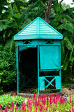 Guardhouse in park. Old Green guardhouse in park Royalty Free Stock Photography