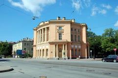 Guardhouse Pavilion of Mikhailovsky (Engineers') Castle, St. Petersburg. Russia Stock Image