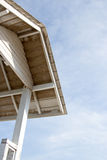 Guardhouse roof. Roof of white guardhouse on blue sky background Royalty Free Stock Image