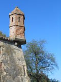 Guardhouse. This is typical example of medieval guardhouse. Its characteristic part of the military fortifications on Petrovaradin fortress Royalty Free Stock Images