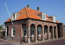 Guardhouse in Willemstad, a Dutch village. Old guardhouse in the village of Willemstad in Zeeland in the Netherlands Stock Photography