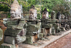 Guardiães de Angkor Imagem de Stock Royalty Free