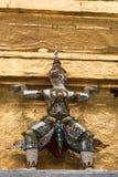 Guardiães do demônio no palácio grande, Banguecoque Foto de Stock Royalty Free
