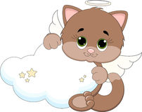 Guardião Angel Cat Foto de Stock Royalty Free