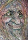Guardião de Forest Carved Into uma árvore fotos de stock