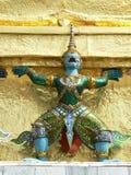 Guardião do demônio, Wat Phra Keaw, Banguecoque, Tailândia Fotografia de Stock