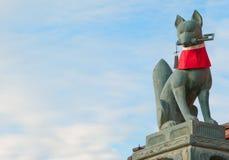Guardião do santuário de Fushimi Inari Taisha Fotografia de Stock Royalty Free