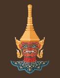 Guardião tailandês gigante, arte tailandesa Imagens de Stock Royalty Free