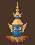 Guardião tailandês gigante, arte tailandesa Imagens de Stock
