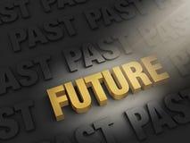 Guardi al futuro, non il passato royalty illustrazione gratis