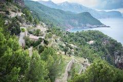 Guardi circa un piccolo posto sulla costa di Maiorca Fotografia Stock Libera da Diritti