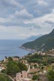Guardi circa un piccolo posto sulla costa di Maiorca Immagine Stock Libera da Diritti