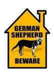 Guardi da del pastore tedesco Sign illustrazione di stock