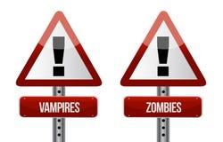 Guardi da dell'illustrazione degli zombie e dei vampiri Immagini Stock Libere da Diritti