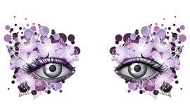 Guardi della molla, trucco artistico dell'occhio fotorealistico Fotografie Stock