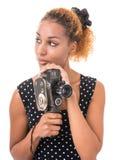 Guardi fisso l'operatore fotografia stock libera da diritti