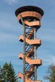 Guardi la torre nella foresta di Nunspeet, Paesi Bassi Fotografia Stock
