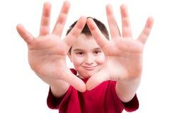 Guardi le mie mani sono pulito Immagine Stock Libera da Diritti