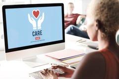 Guardia Assurance Health Concept de la protección del cuidado Foto de archivo