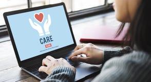 Guardia Assurance Health Concept di protezione di cura Immagine Stock